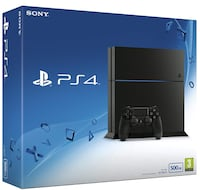 black Sony PS4 game console box 499 mi