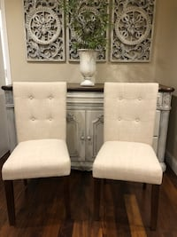 Two buttoned/Tufted style dining or accent chairs. $95/both  Bourbonnais, 60914