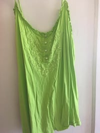 Green floral Old Navy camisole XL