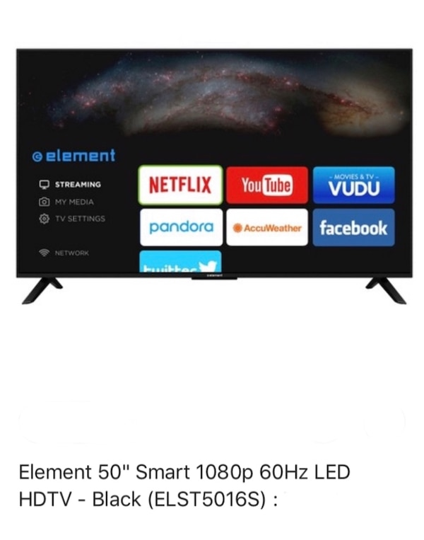 element 50in led 60hz smart tv