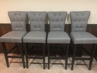 four gray padded parson chairs Gaithersburg, 20879