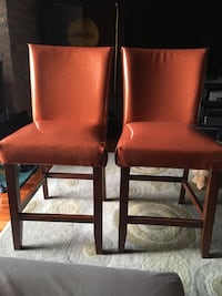 Bar stools orange sparkly unfinished backs extra material included to finish backs Chicago, 60605