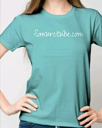 teal crew-neck t-shirt North Hills, 91343