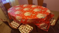 Brand New holiday table cloth and seat covers. Cambridge, 02139