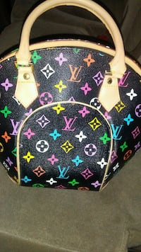 black and white Louis Vuitton leather backpack Fresno, 93711