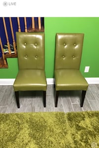 two brown leather padded chairs District Heights, 20747