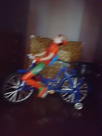blue and orange bicycle with training wheels Surrey, V3W 1G3