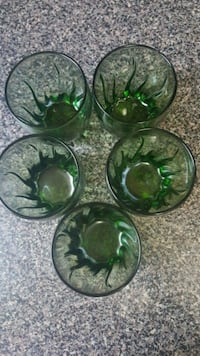 four green glass bowl and bowl Alexandria, 22304