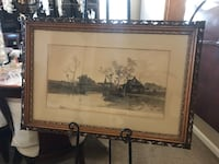 Original etching by Earnest C Rost Visalia, 93291