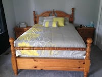 Solid wood bedroom set with mattress and box Fairfax, 22033