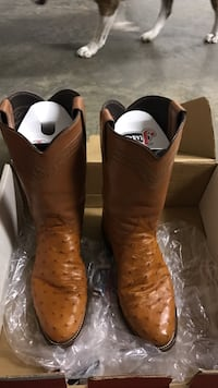 Brown cowboy boots with box Mills River, 28759