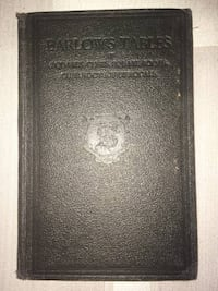 Barlow's Tables of squares, Cubes, and Roots Book