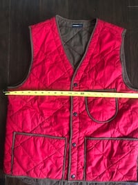 Vintage Burkman Brothers Red & Brown XL Quilted Vest**See Measurements Washington, 20018
