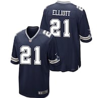 blue and gray Nike #21 Elliott NFL jersey screenshot Cathedral City, 92234