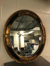 Oval Carved Wood Mirror VANCOUVER