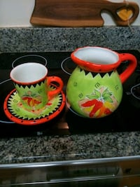 two yellow and green ceramic mugs Silver Spring, 20910