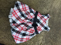 The children's place 0 to 3 months plaid dress Christmas  Hicksville