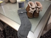 UGG bailey bow boots and Knee Socks Sherwood Park, T8A 1Y5