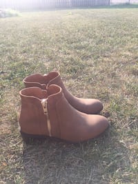 pair of brown leather booties Martensville, S0K 2T0
