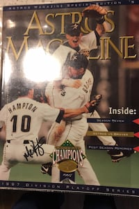 Mike Hampton Autographed 1997 Division Playoff Series Astros Magazine