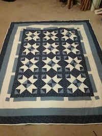 white and blue quilt Danville