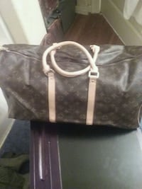 brown Louis Vuitton leather tote bag Beaumont