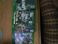 Four Xbox One games Fort Worth, 76109