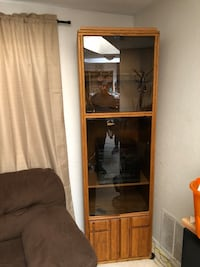 solid wood cabinet with glass doors Albuquerque, 87110
