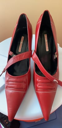 pair of red leather slip on shoes Alexandria, 22306