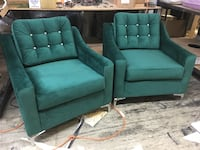 green fabric sofa set with throw pillows Brampton, L6P 1R6