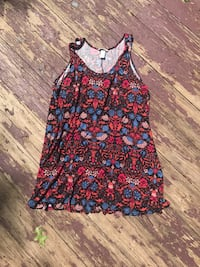 Women's blue and red floral spaghetti strap top Fairfax, 22033