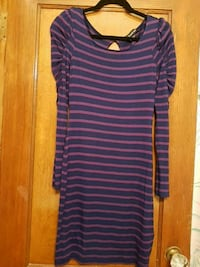 Womens Navy blue & purple bebe dress