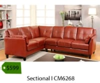 brown leather sectional sofa screenshot La Mirada, 90638