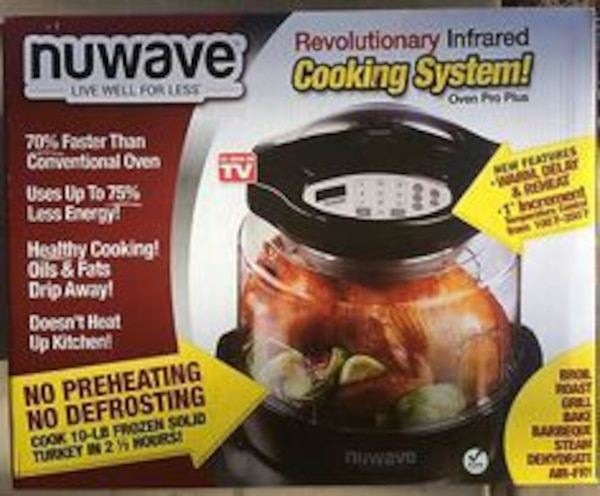 nuwave pro plus infrared cooking oven model 20603