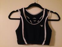 Under Armour Sports Bra - Black & White - Women's Medium (Fits Like Small) Edmonton