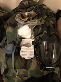 3m respirators full face and half face organic vapor cartridges and chemical goggles  Cascade, 80809
