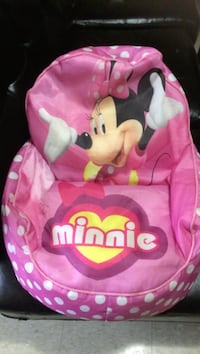 baby's pink and white Minnie Mouse bouncer London, N6E