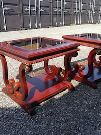 Oakville 2 Solid Wood Asian Red Side Tables  Oakville, L6L 6R9