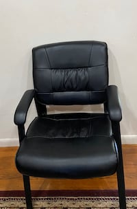 Three leather chairs