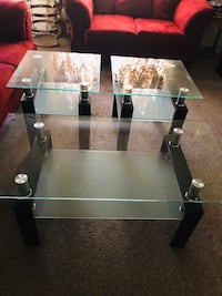 3 Glass Tables NEW