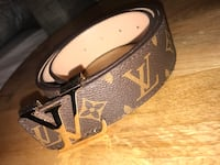 black and brown Louis Vuitton leather belt Edmonton, T5X 0A2
