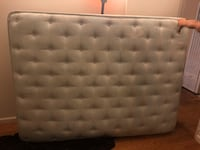 tufted gray leather bed headboard Los Angeles, 91304