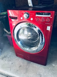 red LG front-load washer 2269 mi