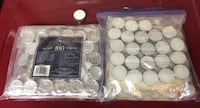 137 White Tealight Candles For Sale - Never Used Oakville
