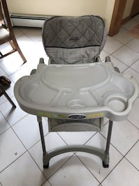 baby's white and gray high chair East Patchogue, 11772