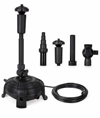 1500GPH 90W Submersible Pump with Fountain kit 5Nozzles,5Spray Pattern