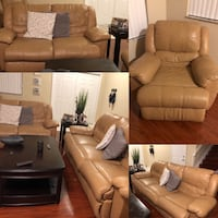 3 piece leather set all sofas recline kendall area  Miami, 33196