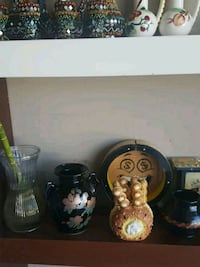 two black and brown ceramic vases Chestermere, T1X 1S5