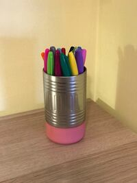 """Pen and Pencil Holder Cup - Collectible """"Eraser"""" Design Leesburg, 20175"""