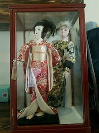 Asian dolls comes with case